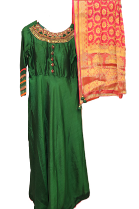 indo_western_gown_green_with_red_banaras_dupatta_8656.jpg Image